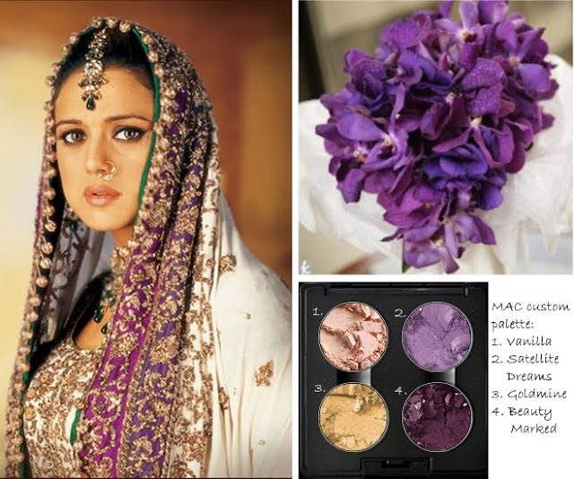 Picture Credits from the top left Preity Zinta in Veer Zaara purple orchid