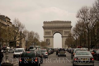 The Arch de Triumphe...and all the traffic