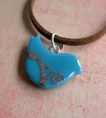 polymer clay, embossed