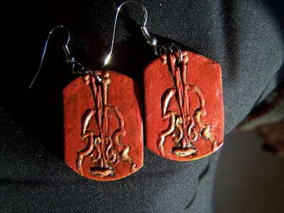 musical, instrumental, polymer clay,  jewelry