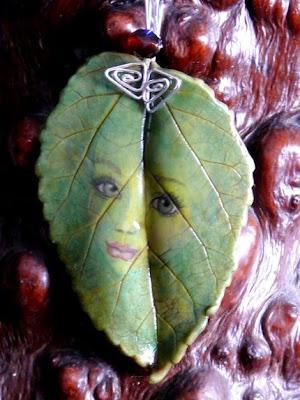 polymer clay leaf