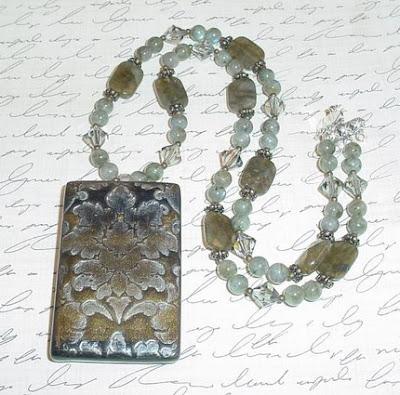 polymer clay, neckace
