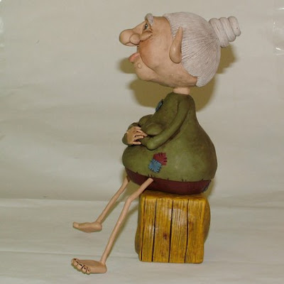 polymer clay, whimsical sculpture