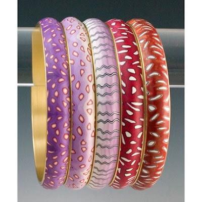 polymer clay, bracelets