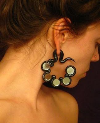polymer clay gauge earrings