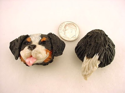 polymer clay dog magnets