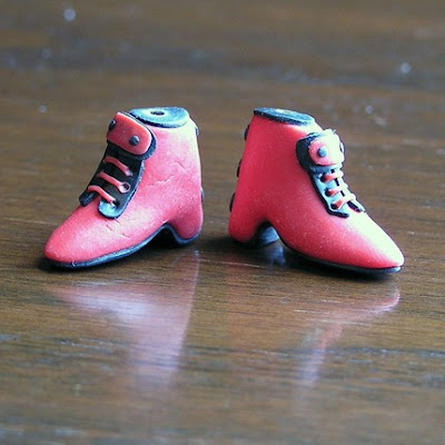 polymer clay shoe beads