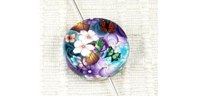 polymer clay millefiori  beads