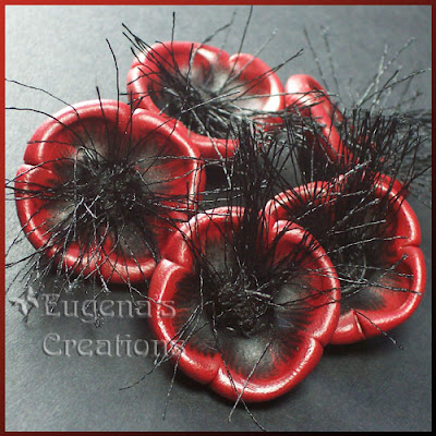 polymer clay poppy bead