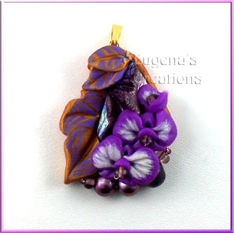 polymer clay pendant by eugena