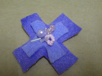 felt made flower corsage
