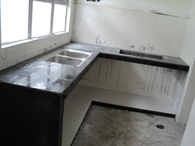 Colors city renovation part 2 - Kitchen cabinet concrete table top ...