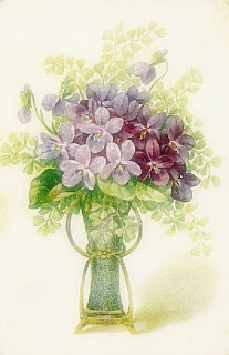 violets 09 749508 Violetas estilo Vintage para decoupage para crianças
