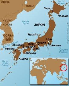 Mapa del Japón