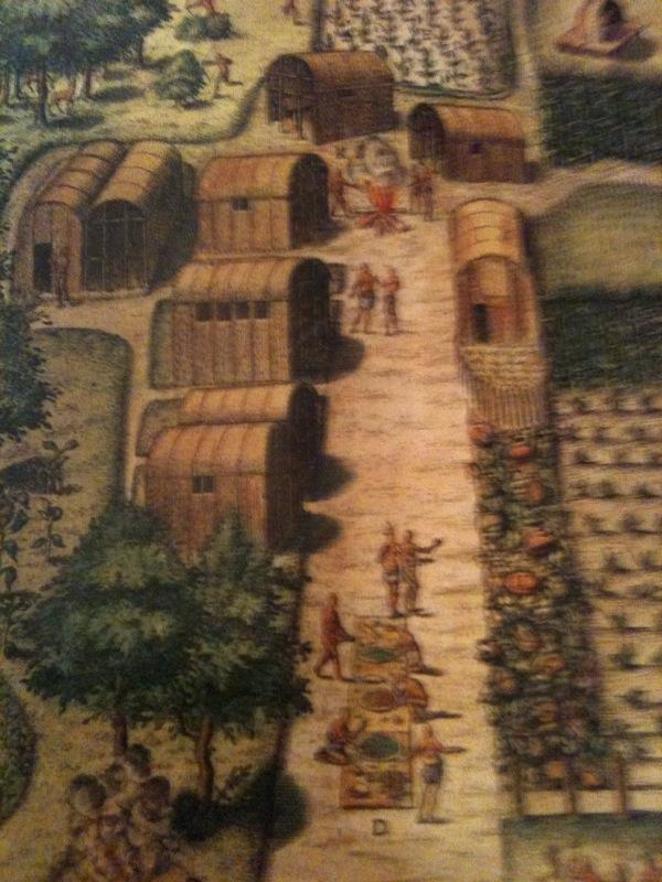 North Carolina Pioneers - North Carolina Genealogy: 1585 Paintingalgonquin village