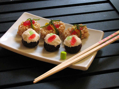 sushi+3 sushi cupcakes
