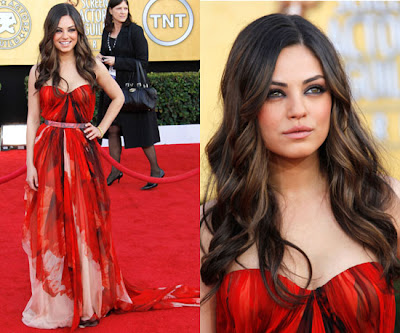 Last night, Black Swan star Mila Kunis shined at the SAG Awards, Oh so nice: