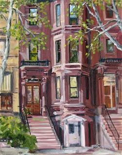 Brooklyn Brownstone Kath Schifano Kathy Painting , Phyllis Stigliano