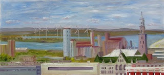 Buffalo Skyline Kath Schifano Kathy Painting