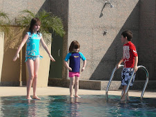 Children having fun at the hotel pool