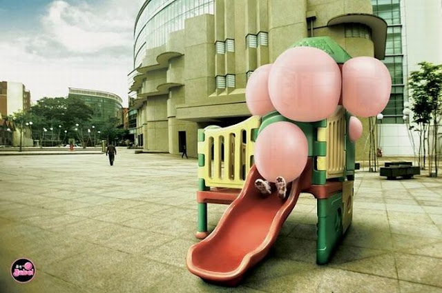 Creative Bubble gum advertisement