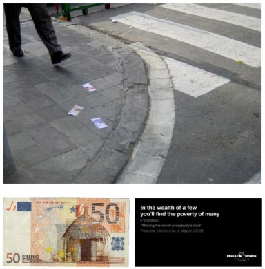 Creative money advertising