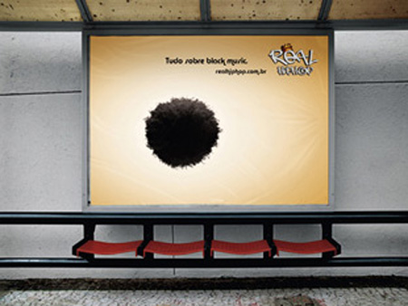 Hip Hop bus stop advertisement
