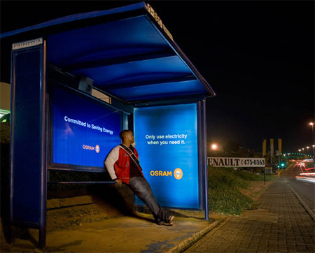 Osram Energy creative bus stop advertisement