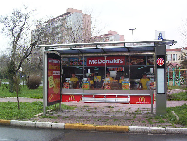 McDonald's bus stop creative advertisement