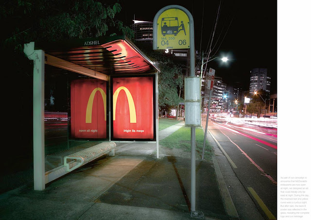 McDonald's Open all night bus stop creative advertisement