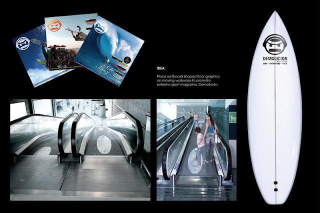 Demolicion magazine advertisement - Surf stickers