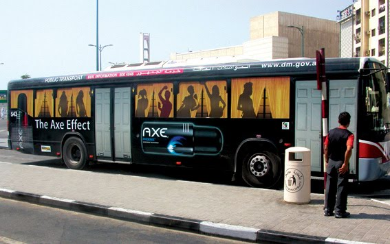 Axe bus advertisement