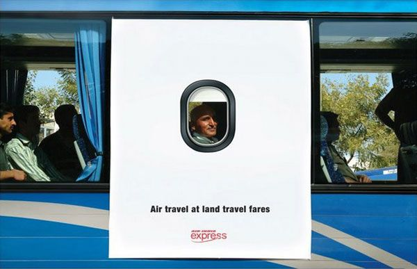 Air India bus advertisement