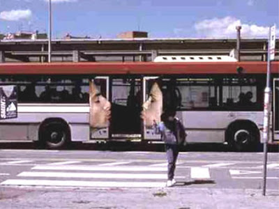 Smint kiss bus advertisement
