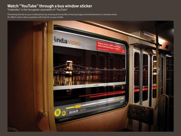 Vodafone bus advertisement