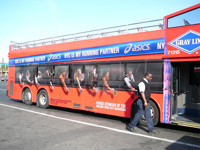 Asics bus advertisement