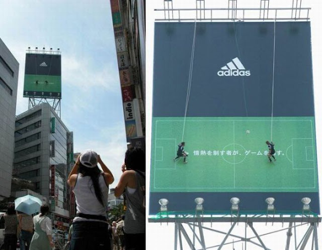 Adidas Vertical Soccer Billboard