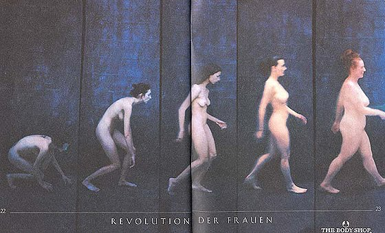 The Body Shop Evolution of women ad