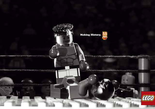 Lego: Making history advertisement- Mohamed Ali