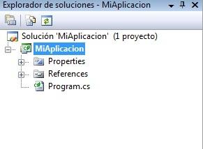 Explorador de Soluciones C#