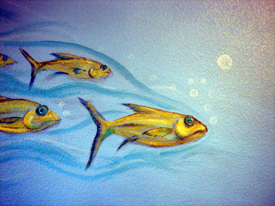 Rara avis ramblings scuba diving nursery mural for Diving and fishing mural