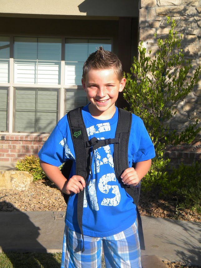 Colten's first day of the 5th grade.