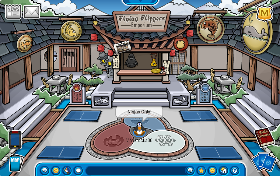 to become a ninja go to my how to become a page and scroll down to how to become a ninja this is what the room looks like - Club Penguin Coloring Pages Ninja