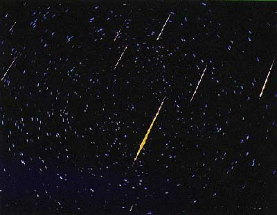 Meteor showers are generally