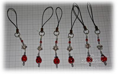 LadyBug mobile phone charms