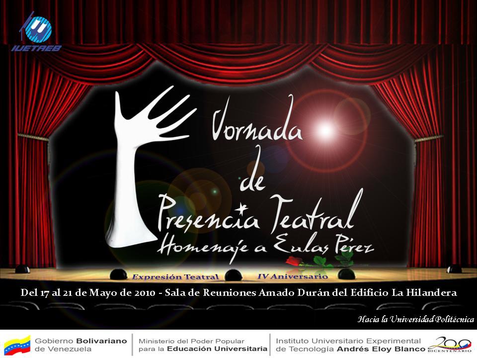 V Jornadas de presencia Teatral
