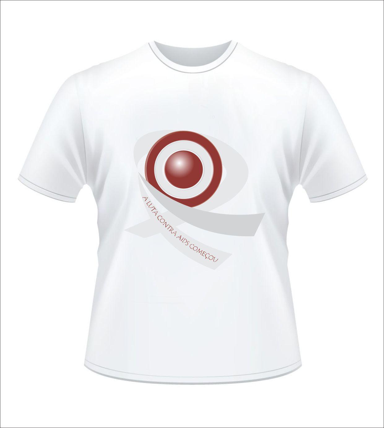 Criação na Propaganda: Camisa com Escudo da Luta Contra AIDS #903632 1241 1384