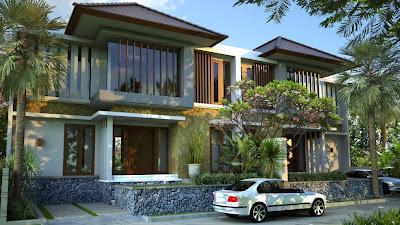 desain rumah, desain villa, type 130, interior, minimalis