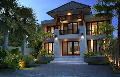desain rumah type 300, villa bali, desain rumah, bangun rumah, minimalis, interior