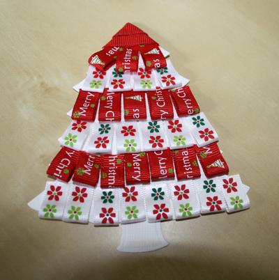 Craft Queen Blog Ribbon Christmas Tree Card